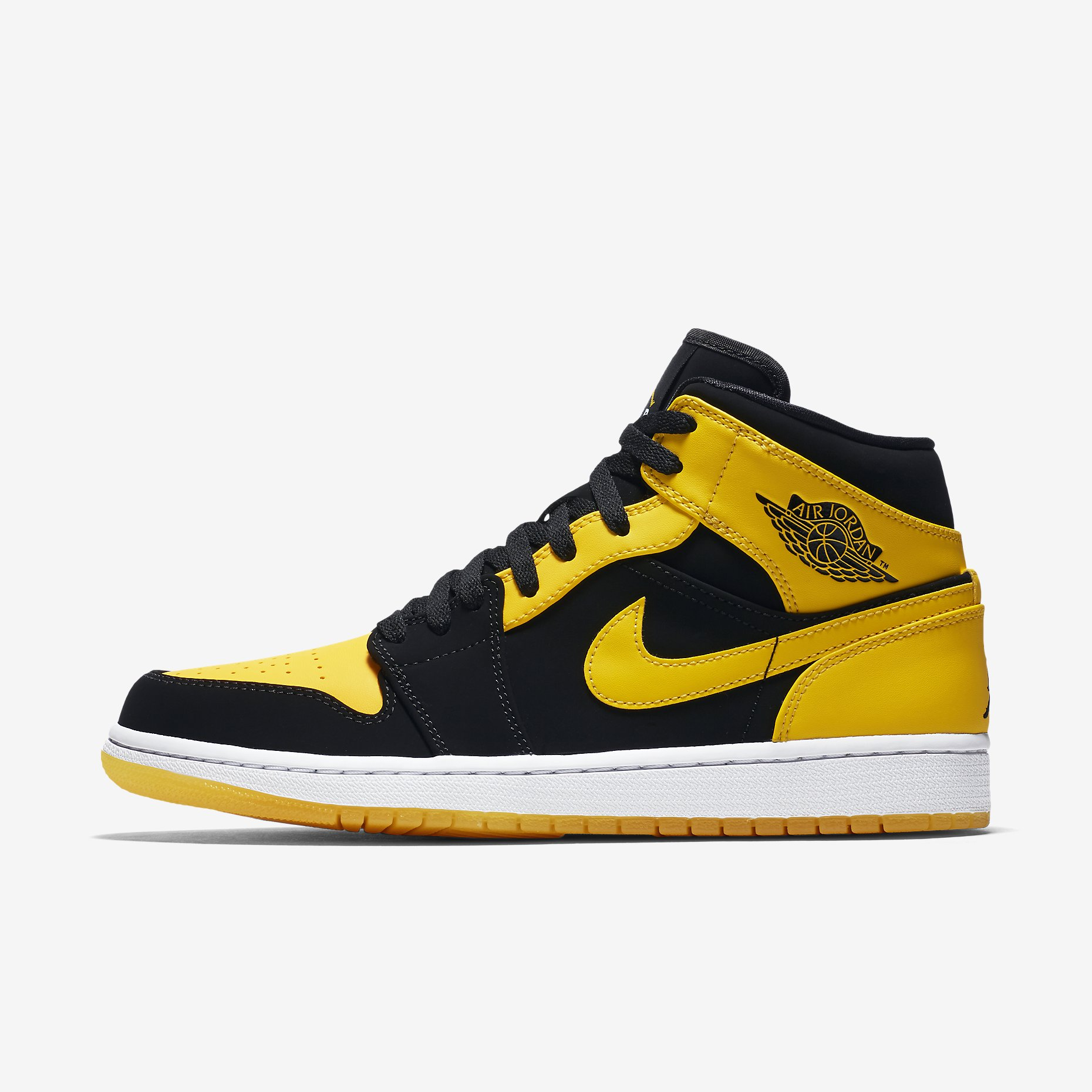 low cost innovative design official Nike Air Jordan 1 Mid Schwarz / Gelb, Herren – NewKicks